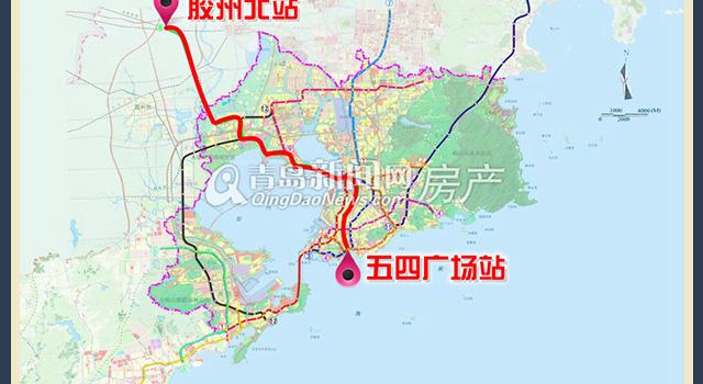 一张图看懂青岛地铁8号线 从主城区直通新机场