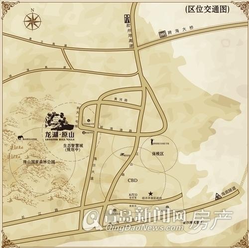 龙湖原山区位图