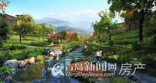 龙湖原山天然水系环绕 打造岛城山地别墅巅峰