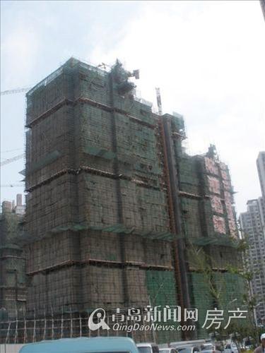 晓港名城二期正在有条不紊地施工 已建到8层左右