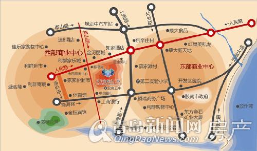双子座商业广场区位图