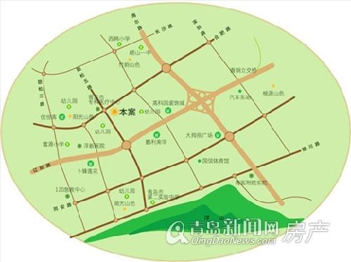 城建春光山色位于合肥路南侧 交通便利配套完善