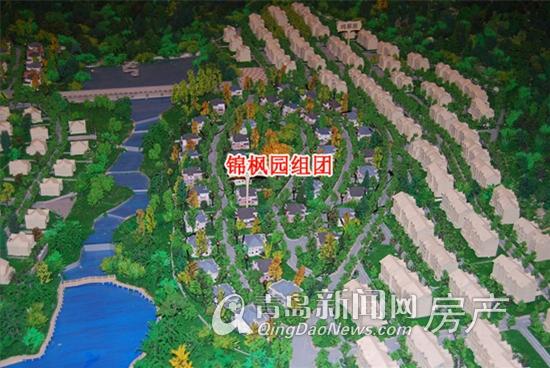 100福国际山庄沙盘实拍 锦枫园