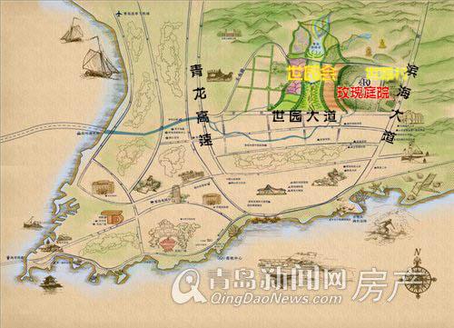 2014青岛世界园艺博览会 玫瑰庭院 区位图