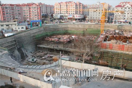 新天悦广场正进行地下工程建设