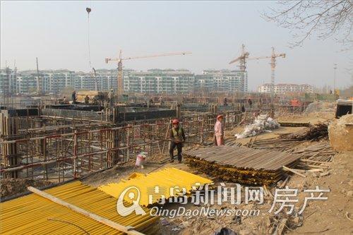 青特赫府工程进展2014.4.4日拍摄
