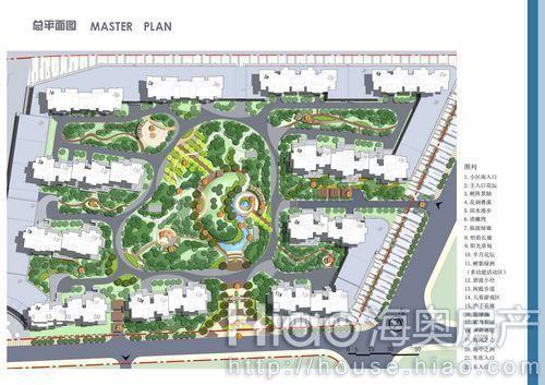 规划设计总平面图() 山河城·海洋公园 景观规划鸟瞰图()  海奥