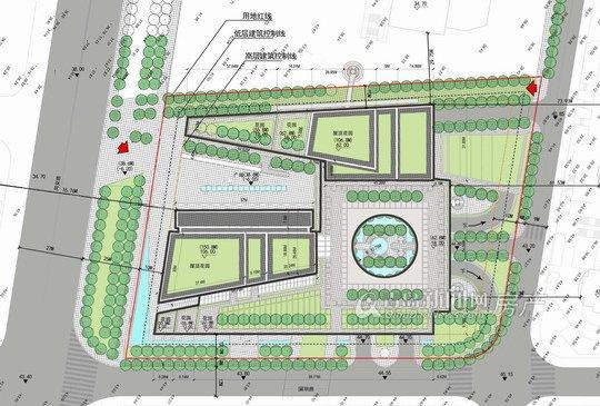 建筑面积124968平方米,其中地上建筑面积80462平方米,地下总建筑面积44506平方米,容积率4.60,建筑密度46.9%,绿地率为20%。 项目因紧靠同安路,因此暂命名为同安路写字楼,该项目地块整体基地为矩形,东北角高,西南角低。项目南北两侧均为住宅,西北侧有一座办公楼,目前项目东西两侧尚未开发。 同安路项目建筑体型设计以现代化风格为主,但又不拘泥于几何形体的组织,而是在满足功能要求的前提,充分利用各种不同体型的穿插、错落,展现出十分灵活的空间序列,架空的建筑和广场浑然一体
