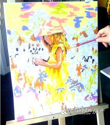 业主朋友正在画数字油画《寻找爱丽丝》
