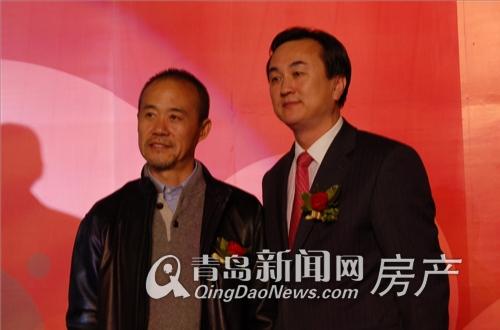 平度市委书记王中与万科董事长王石合影-青岛