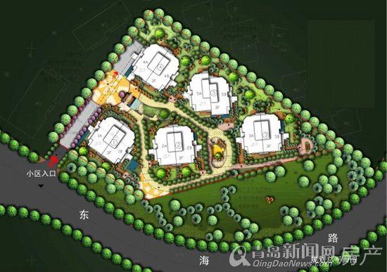 融海园小区总平面图-楼盘相册-大图展示