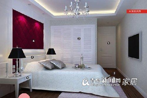 乳白欧式家具配墙纸