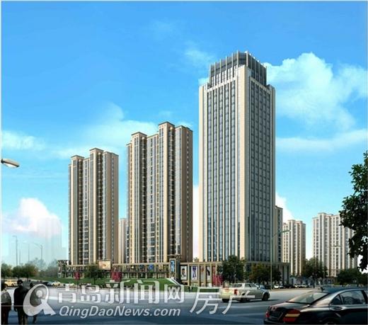 青岛cbd内再添大型社区 10栋高层建筑有住有商
