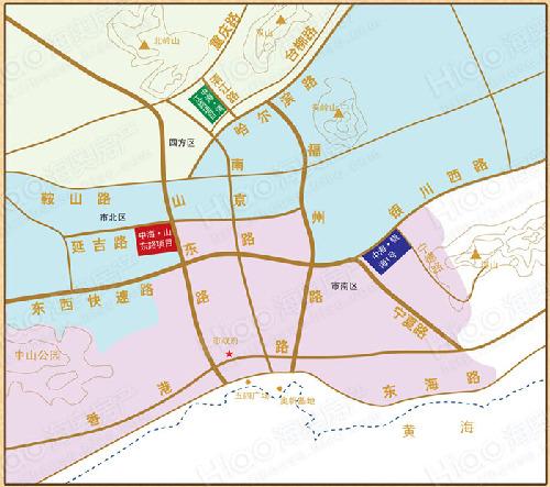 中海紫御观邸区位图