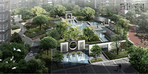 金泽儒家位于青岛市经济技术开发区薛家岛安子居住区长江路南滨海