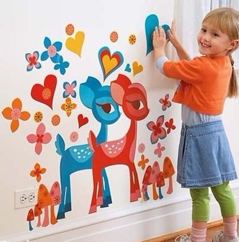 背景墙|打造可爱墙面家居 留下童真回忆(图)