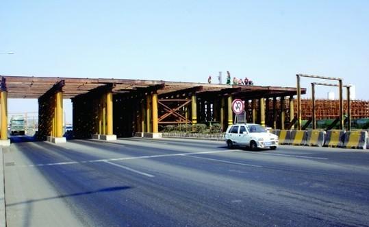 太原路立交桥主桥完工 按计划年底可通车