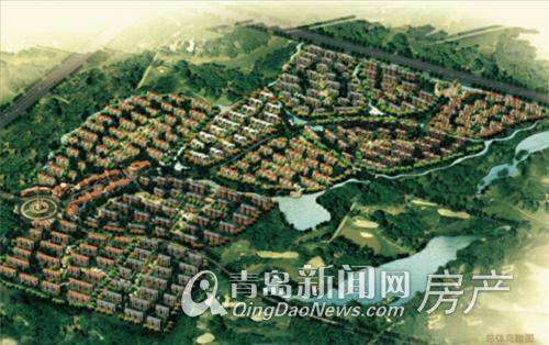 青岛风景鸟瞰图