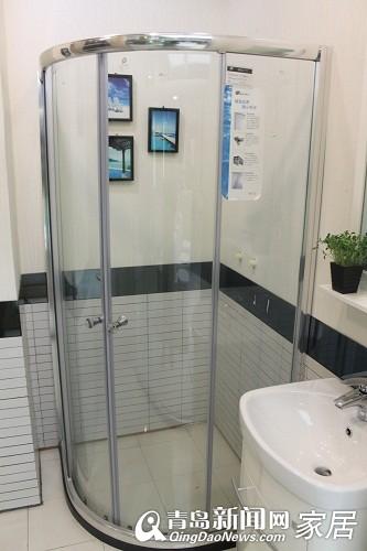 青岛淋浴房团购,贝乐卫浴,索尔洁具,鹰卫浴,青岛卫浴专卖 高清图片
