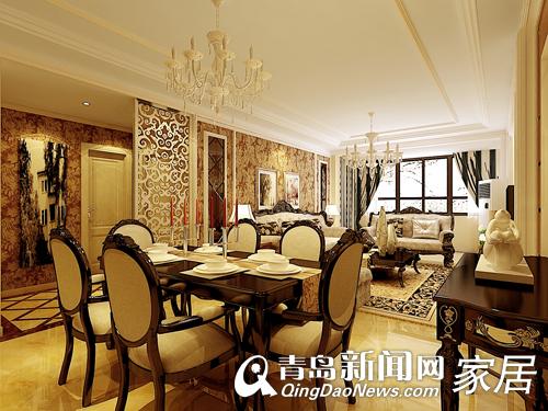 大气内敛的餐厅,既体现了英式复古的传统神韵,又富有现代设计的精髓.图片