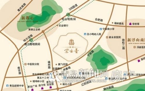 国信紫云台,新都心,香港路商圈,新浮山商圈,青岛新闻网