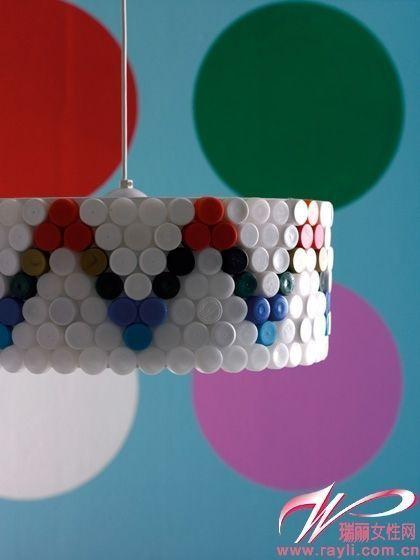 废物利用超赞diy 小瓶盖变身in装饰(图)图片