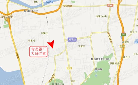 厂区东邻重庆路,南渠村,西围墙距胶济铁路约85m,北距流亭国际机场约3.