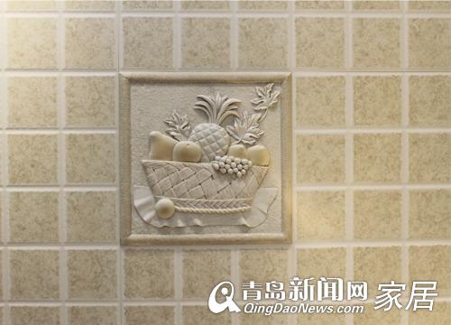 厨房欧式格子墙砖贴图