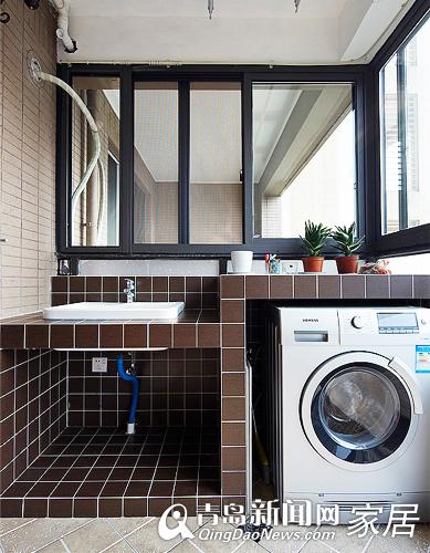 阳台洗衣机装修效果图片_洗衣机装修百度图片
