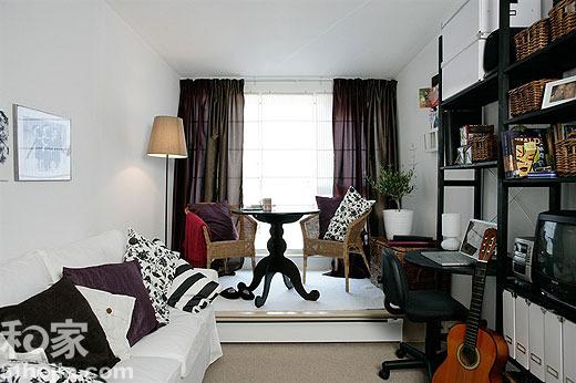 战胜不规则空间 狭长形状客厅设计(图)