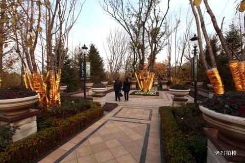 欧式喷泉广场……加之具有街景欧式建筑风格的售楼处