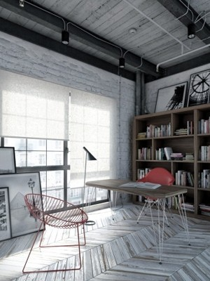 创意家庭工作室设计 享用小空间无压力氛围(图)