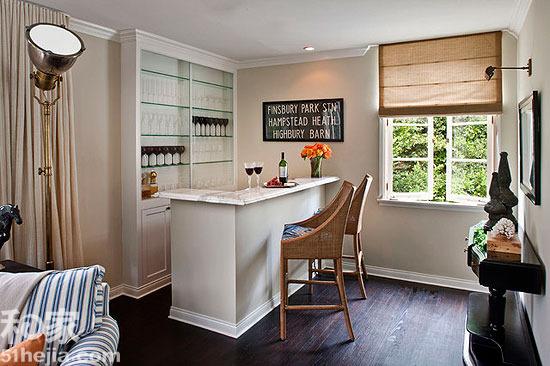 吧台设计,小户型吧台,客厅吧台,青岛装修