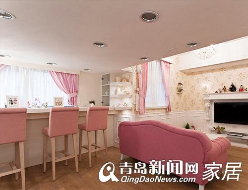 loft户型,欧式风格,粉色调装修