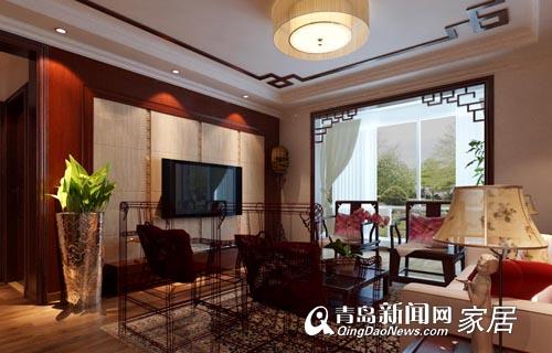 青岛凤凰城,青岛凤凰城装修案例,青岛装修案例,中式风格,青岛东方家园