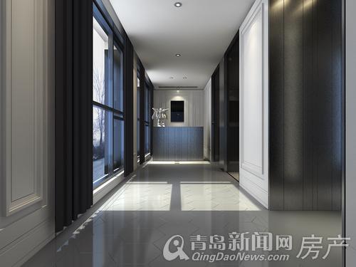 私享电梯入户 步出电梯即为企业形象墙