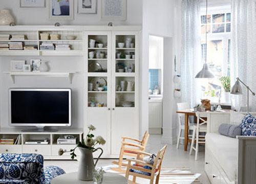 4个小户型客厅布置方案 会客视听储物美观实用(图)