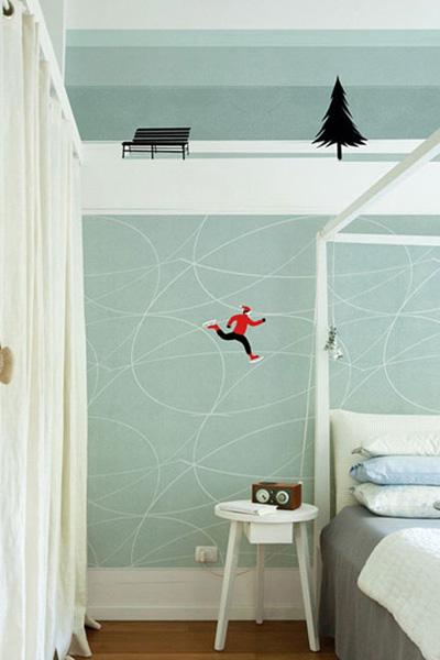 壁纸设计,墙面设计,手绘壁纸,青岛业主装修