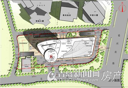 """青岛沿海""""新地标"""" 335米超高层世奥大厦规划问世(图)"""
