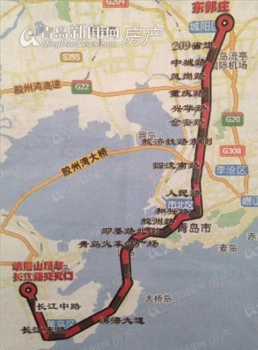 M1号地铁路线图-新盘 致幸福主推85 94㎡套二婚房下半年开盘 临团岛图片