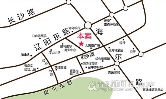 青岛海尔路地图