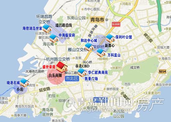市北地铁房分布图,青岛新闻网房产