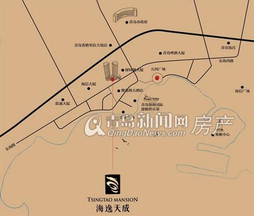 八大关街道地图