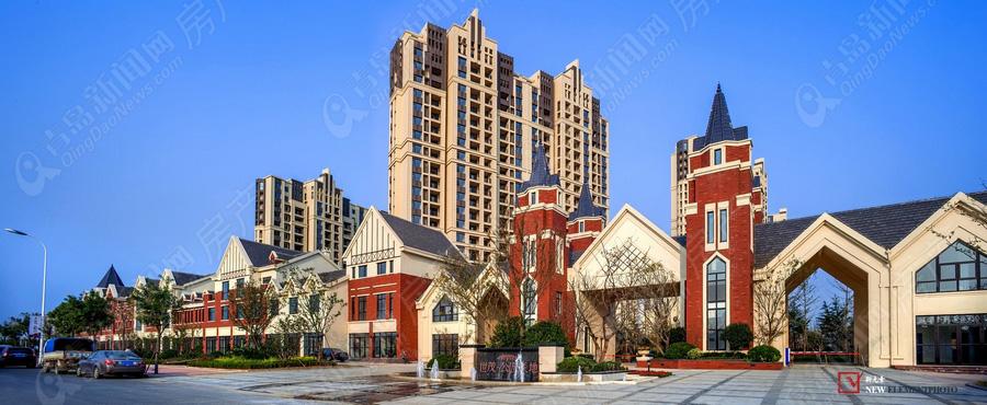 世茂公园美地,高新区别墅,刚需价别墅,商铺实景图,青岛新闻网房产