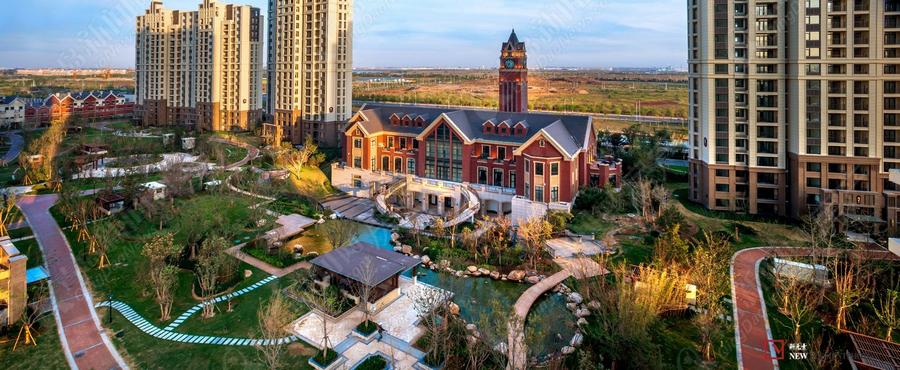 世茂公园美地,高新区别墅,刚需价别墅,俯瞰实景图,青岛新闻网房产