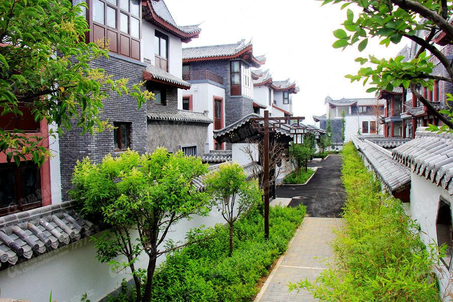 中式建筑看似古朴 一砖一瓦都精细雕琢造价极高-高清 溪之谷崂山北麓