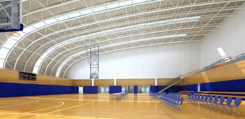 城阳体育馆位于城阳新天地西侧、江城路东侧,总投资1.84亿元图片