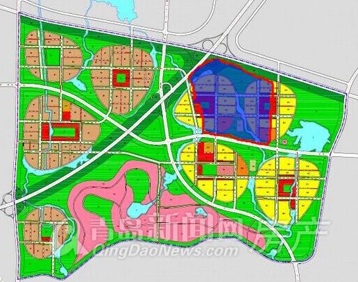 黄岛地图_中德生态园置业包揽黄岛7宗地 将建超36万㎡大型社区 - 青岛新闻网
