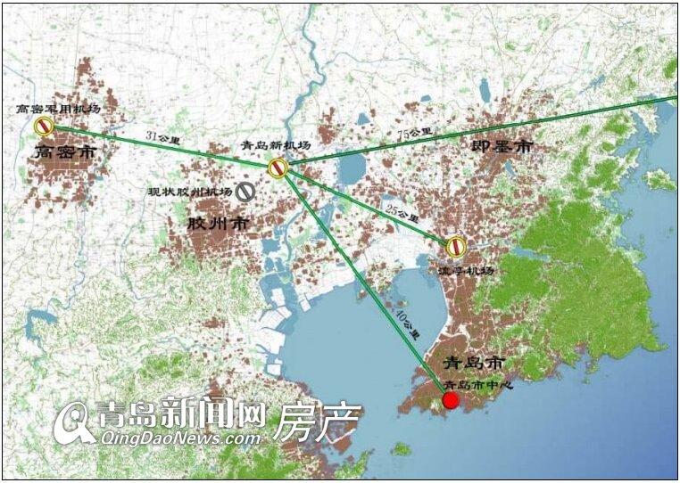 高清:青岛胶东新机场二次环评 规划全景问世今年全面开建图片