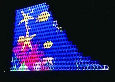 木屋硅谷四季建筑展现昨试灯15万个光源点亮化景色别墅蓝色地标福州图片